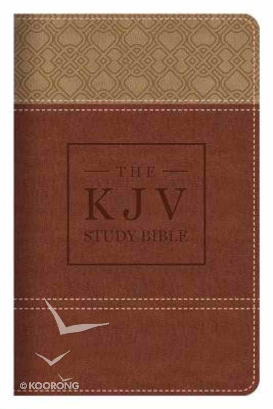 KJV Classic Study Bible Handy Size Burgundy/Tan Flexi Back