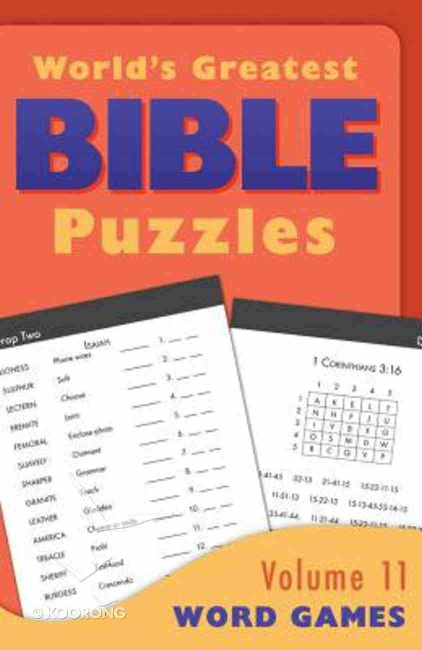 Word Games (#11 in World's Greatest Bible Puzzles Series) Paperback