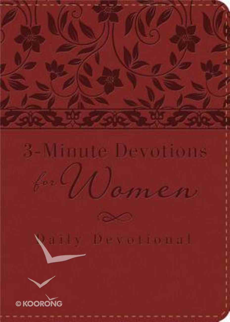 3-Minute Devotions For Women: Daily Devotional (Red - Cover 2) Flexi Back