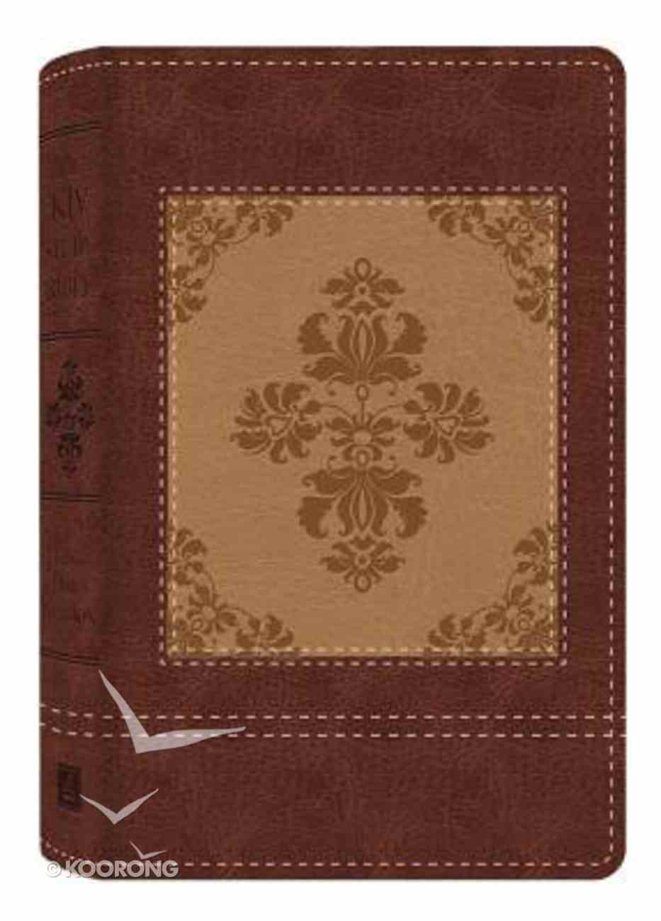KJV Study Bible Dicarta Heritage Tan/Cream Flexi Back