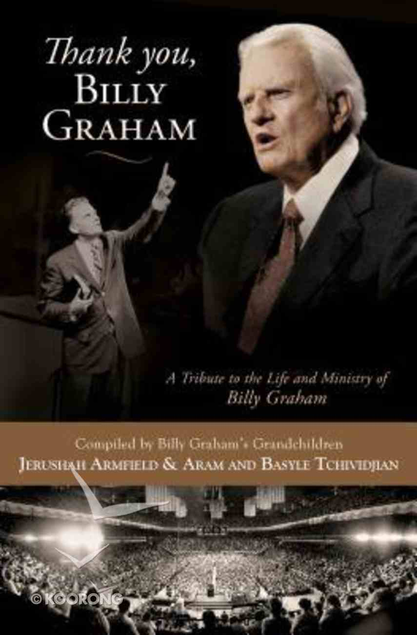 Thank You, Billy Graham Paperback