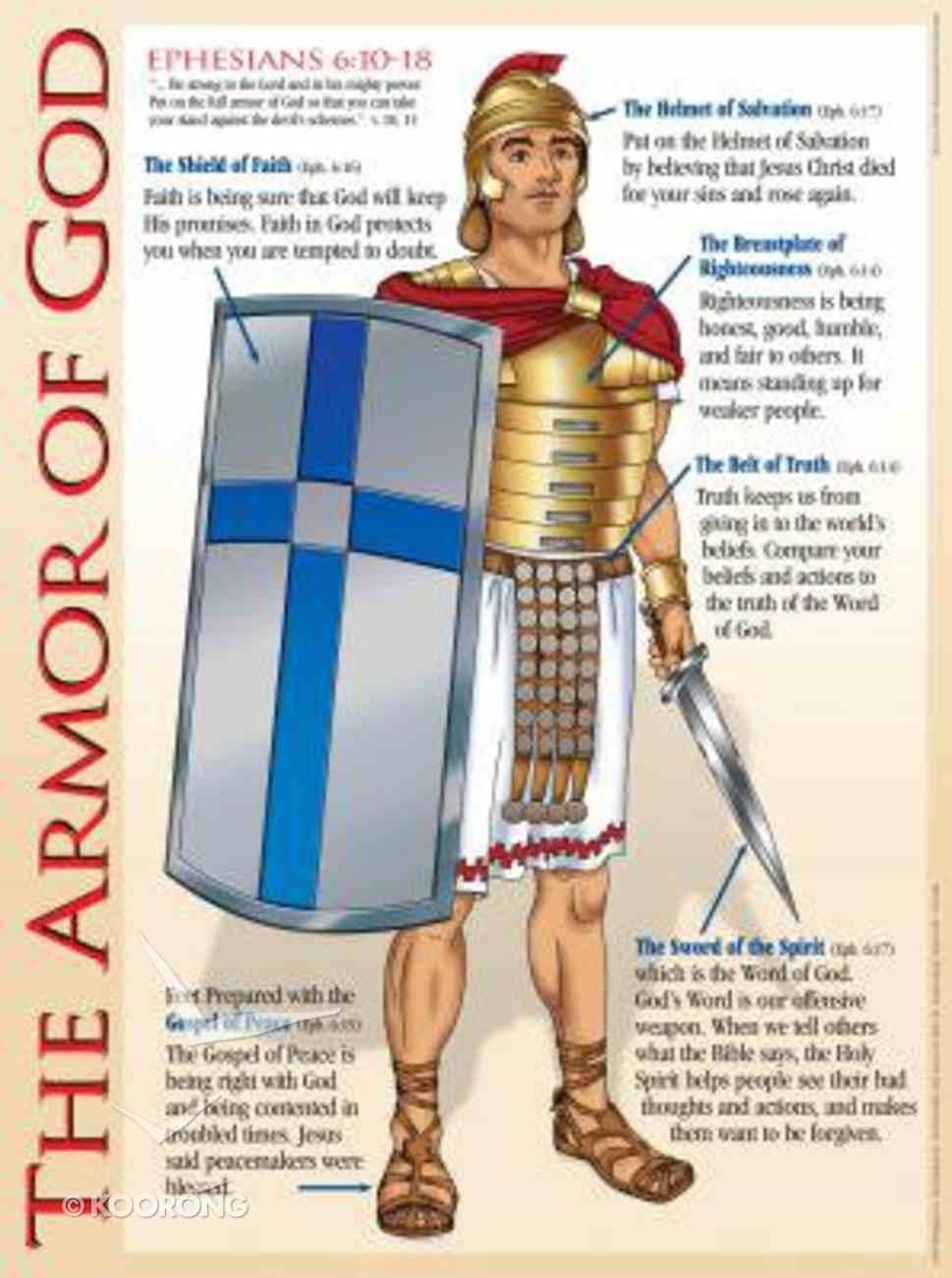 Wall Chart: Armor of God (Laminated) Chart/card