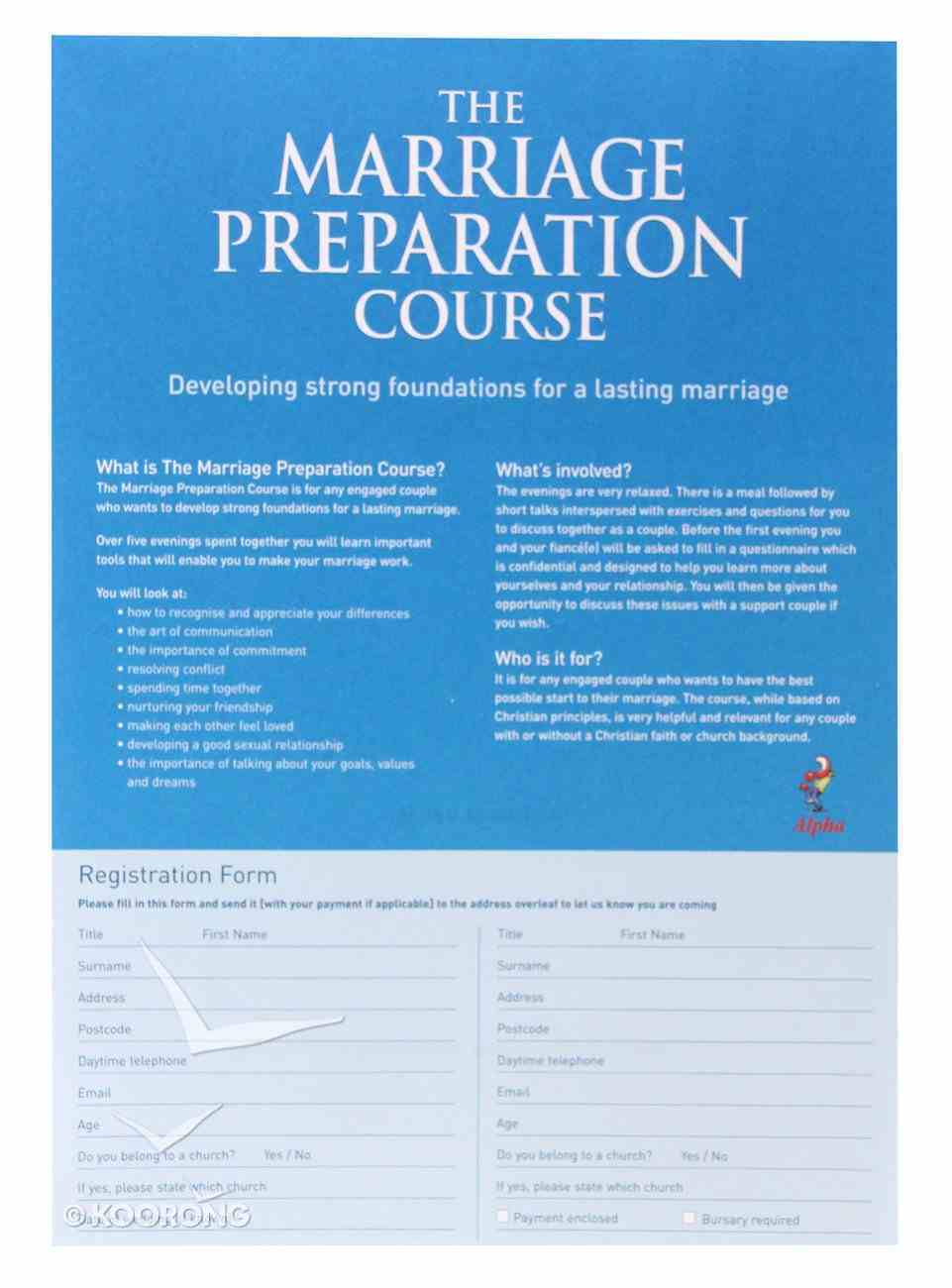 Invitation Postcards (Pack of 50) (Marriage Preparation Course) Stationery