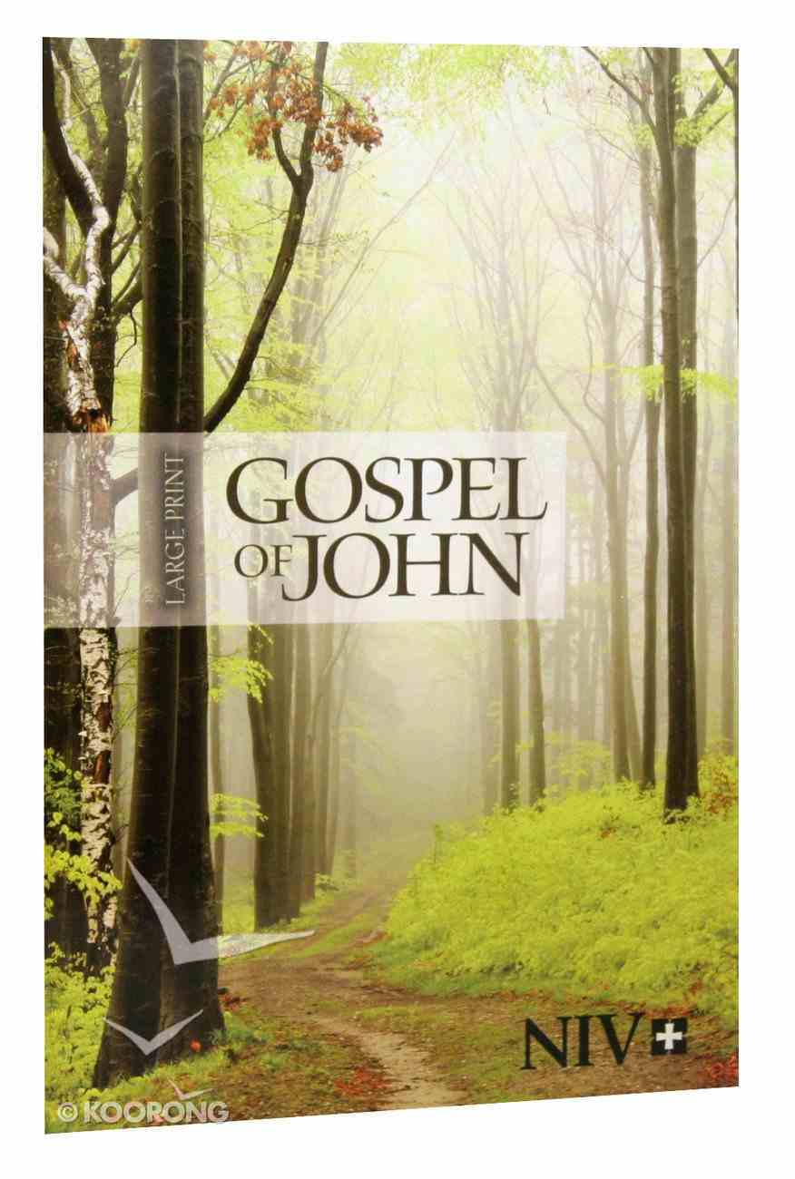 NIV Gospel of John Large Print: Path Cover Paperback