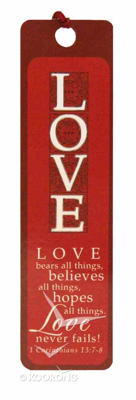 Bookmark With Tassel: Love (Silver Foiled) Stationery
