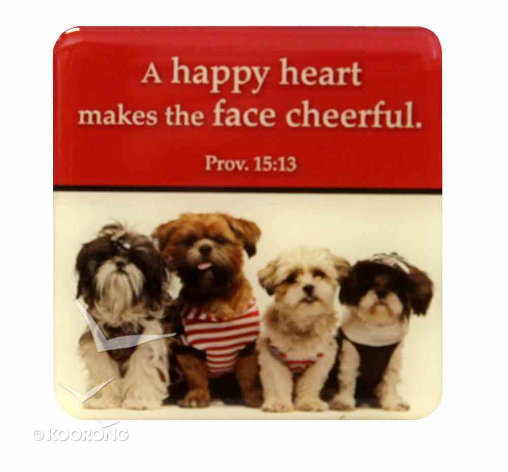 Meaningful Magnet: A Happy Heart Puppies Novelty