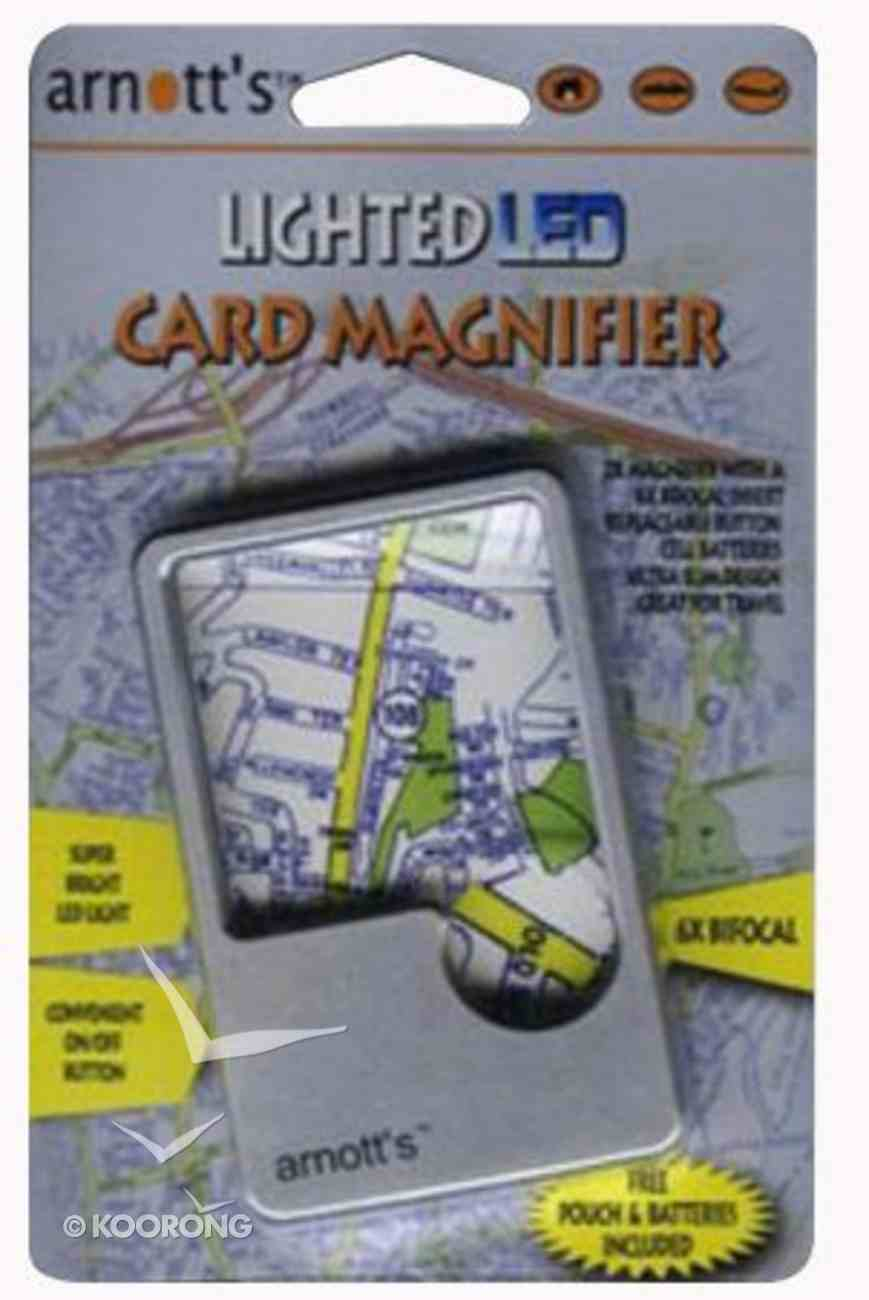 Lighted Led Card Magnifier With Protective Pouch Stationery