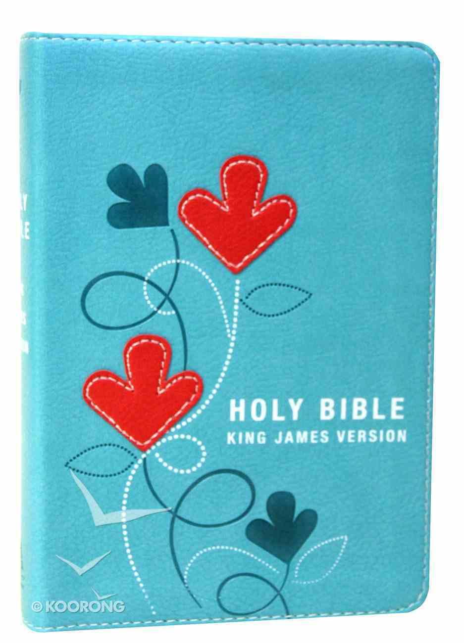 KJV Pocket Bible Turquoise Red Letter Edition Imitation Leather