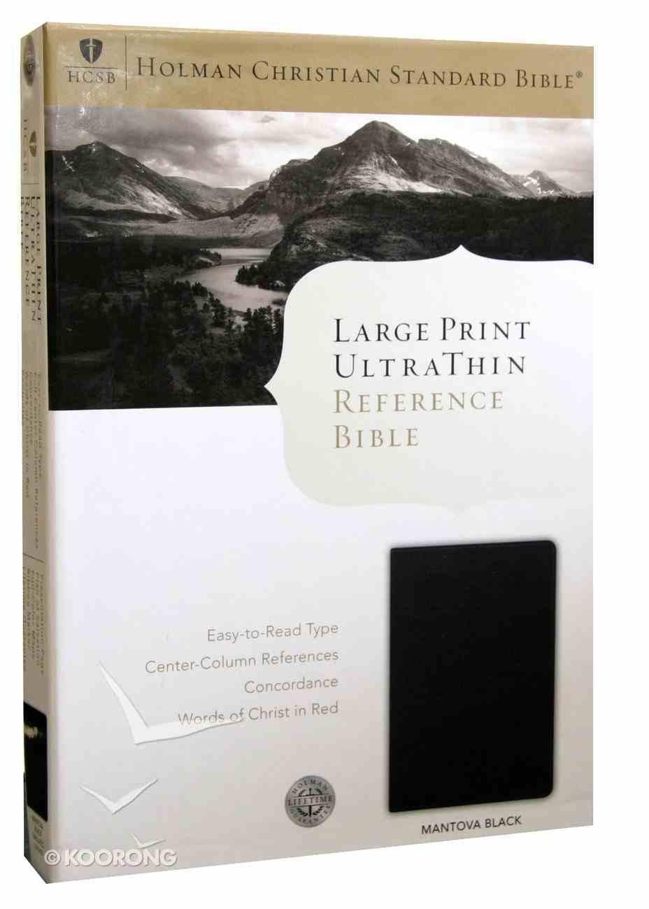 HCSB Large Print Ultrathin Bible Mantova Black Simulated Leather Imitation Leather
