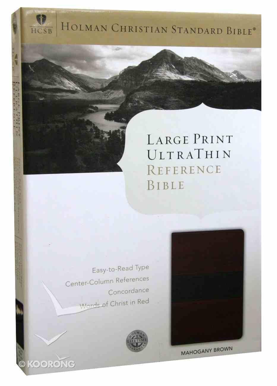 HCSB Large Print Ultrathin Bible Mahogany Simulated Leather Imitation Leather