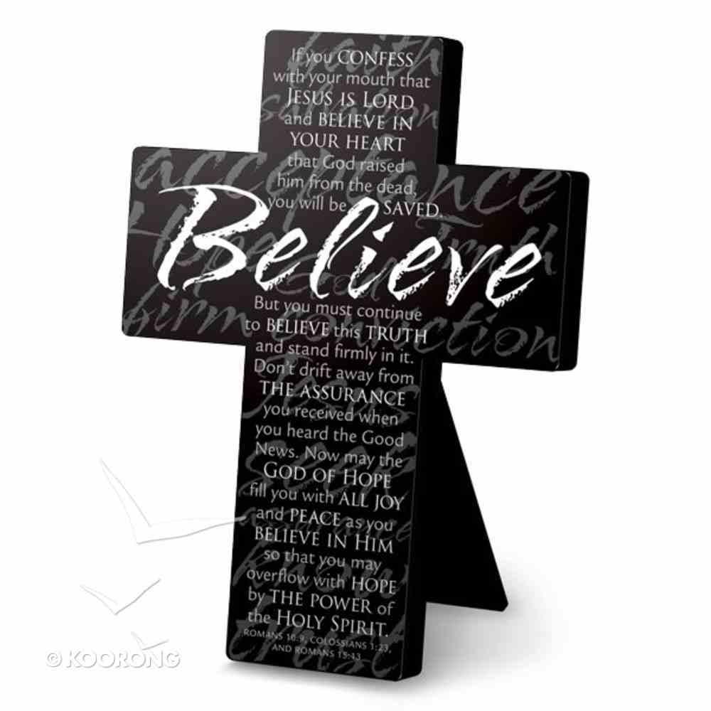 Cross Black Metal: Message Believe (Large) Homeware