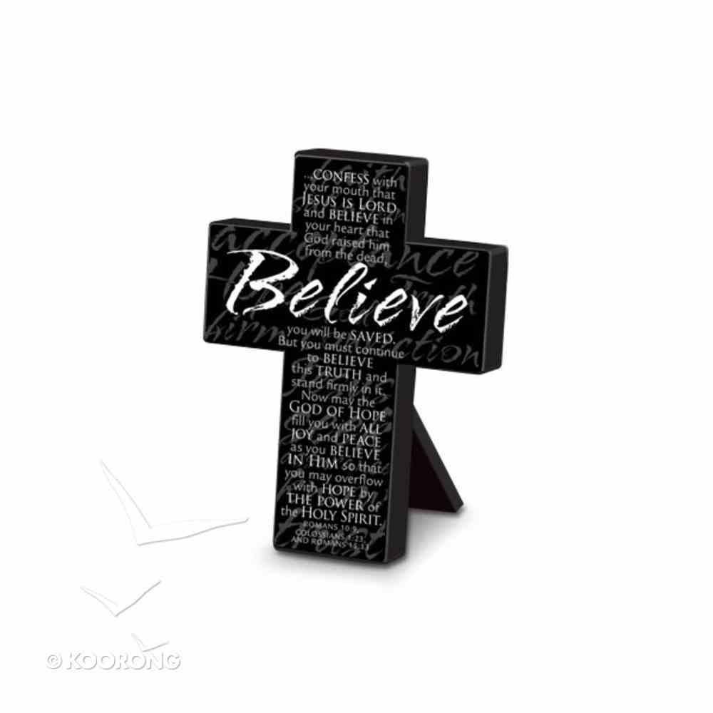 Cross Black Metal: Message Believe (Small) Homeware