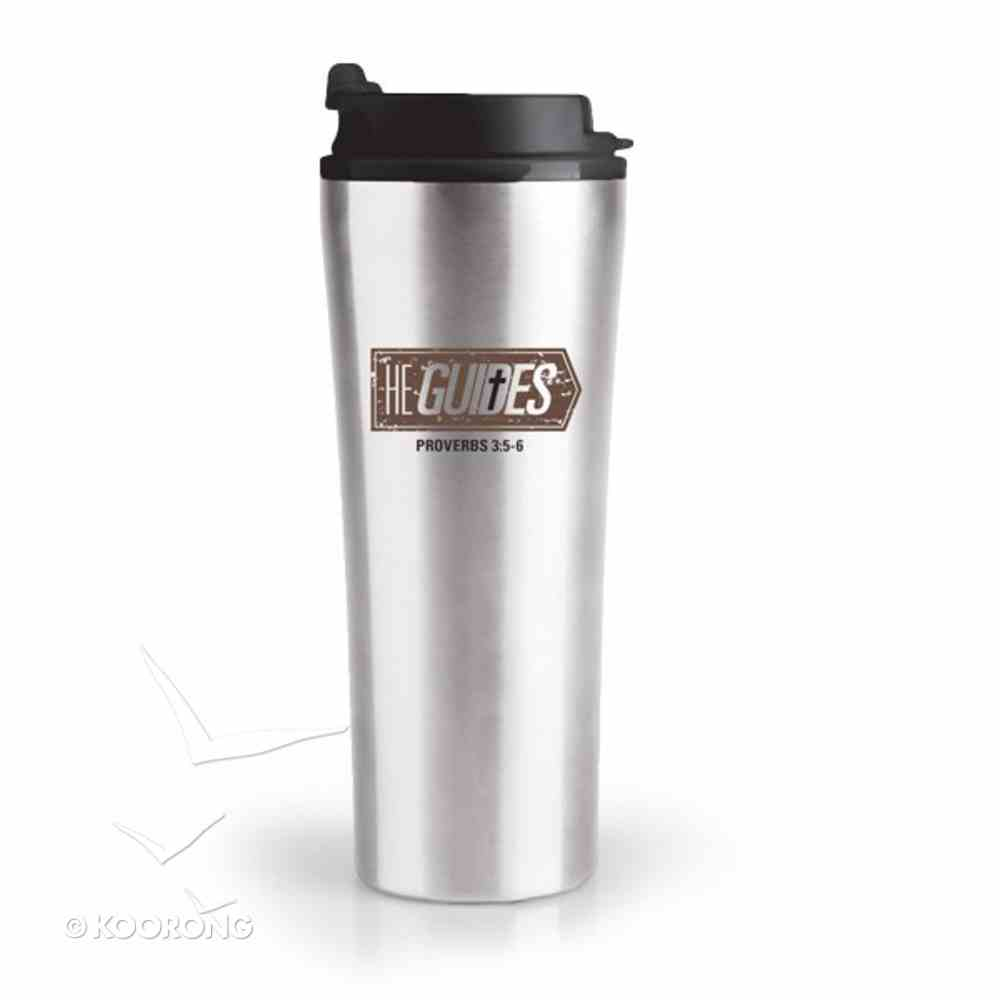 Stainless Steel Tumbler With Lid: He Guides Homeware