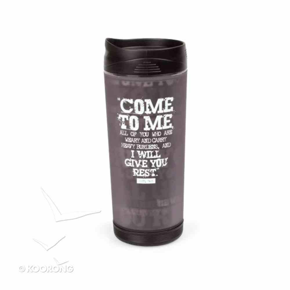 Black Block Print Acrylic Tumbler Mug: Give You Rest Homeware