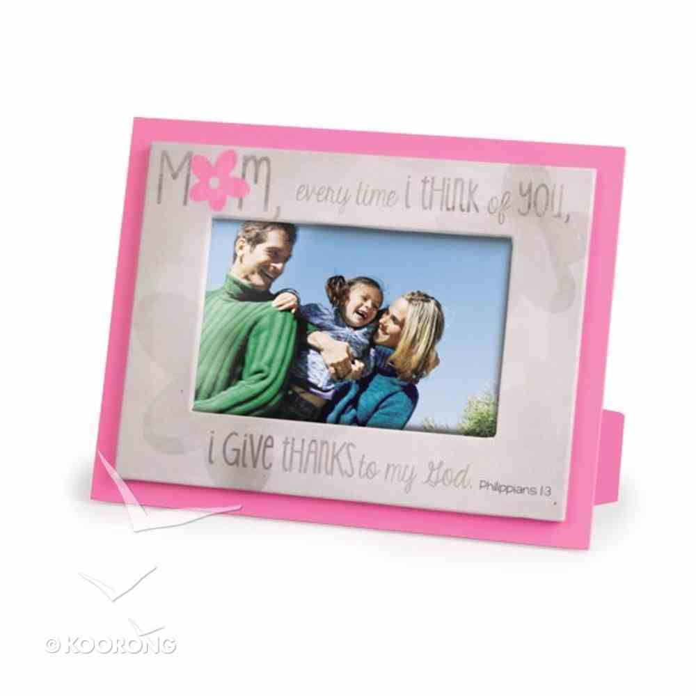 Blessings on Canvas Photo Frame: Mom With Pink Flower Homeware