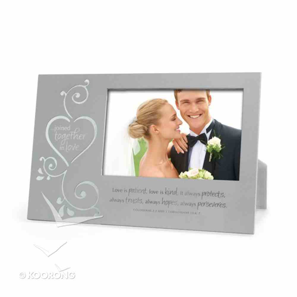 Silver Metal Photo Frame: Joined Together in Love Homeware