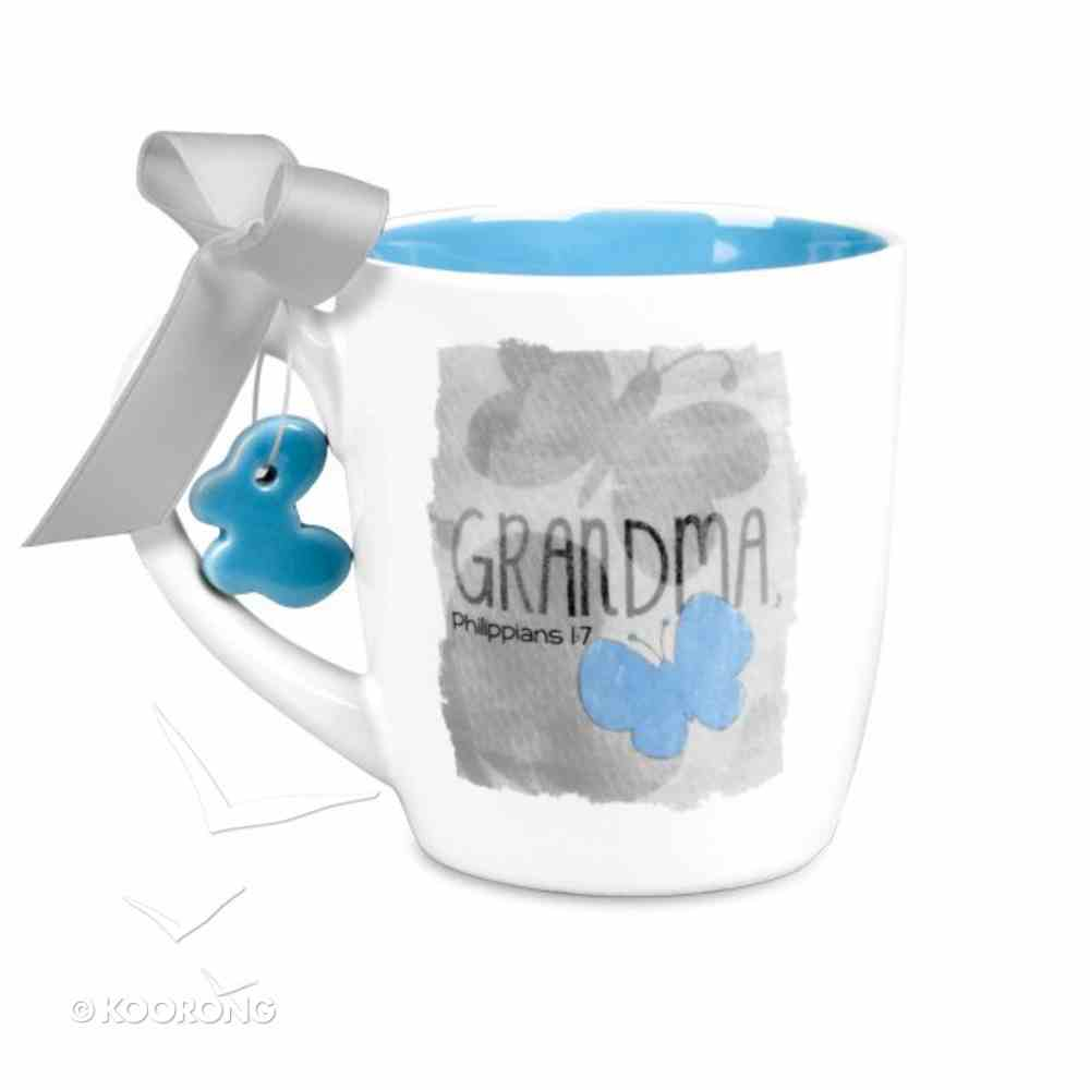 Blessings on Canvas Ceramic Mug: Grandma With Blue Butterfly Homeware
