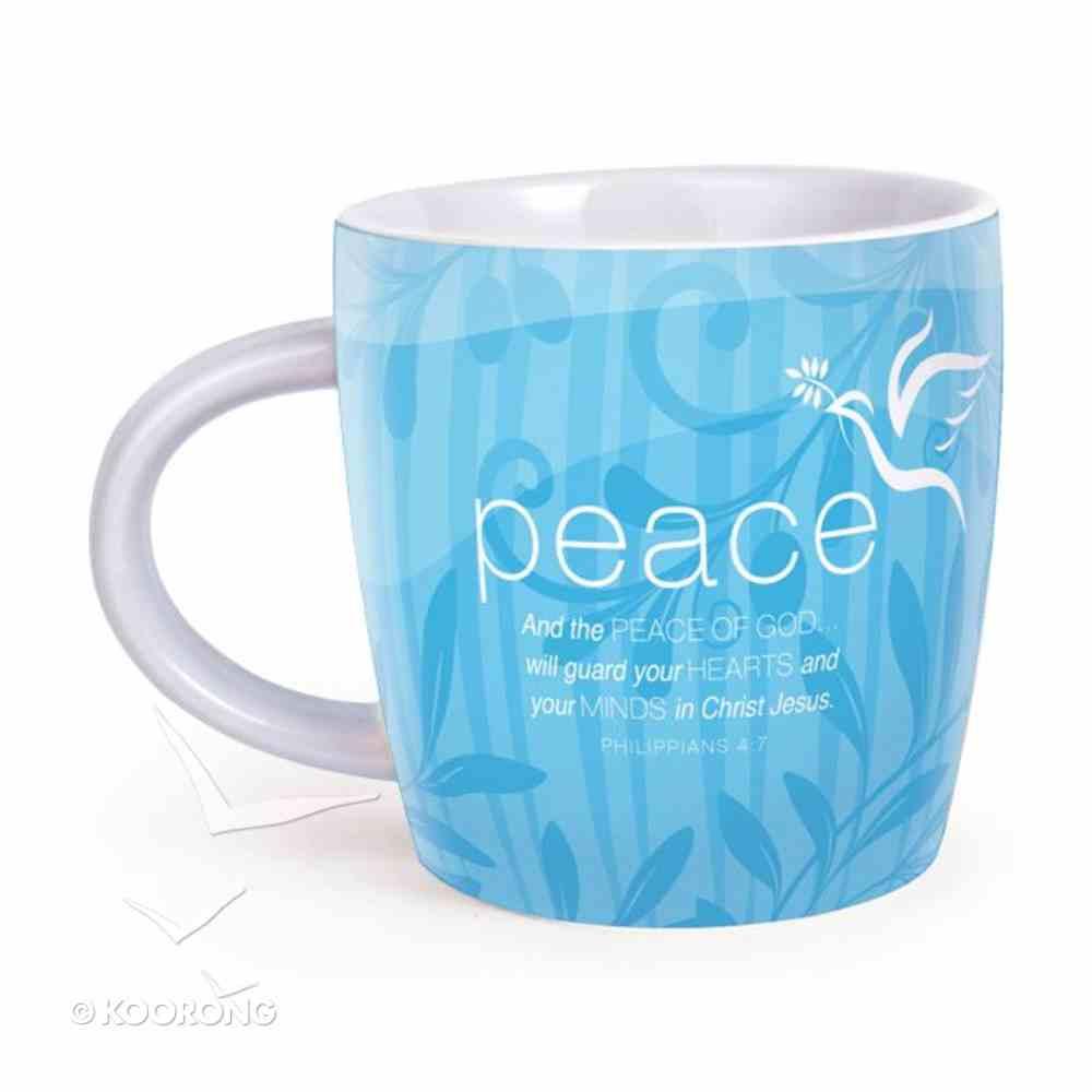 Encouragement Mug: Cup of Peace Philippians 4:7 (Blue) Homeware