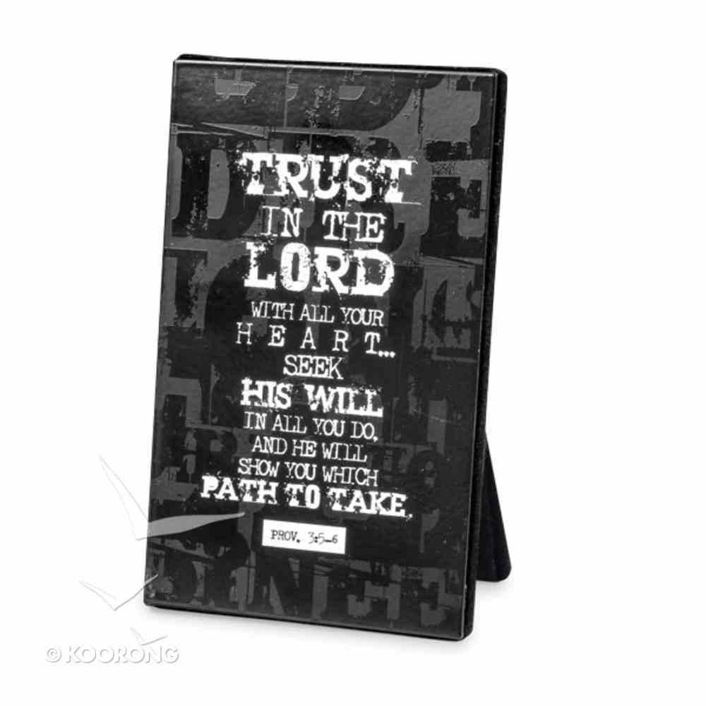 Black Block Print Metal Plaque: Trust in the Lord Homeware