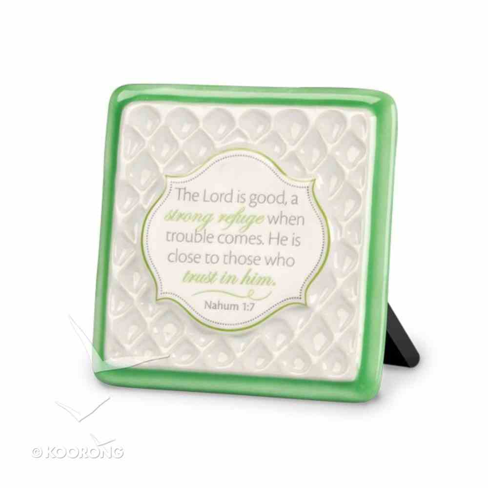 Pattern of Praise Ceramic Plaque: The Lord is Good (Green) Homeware
