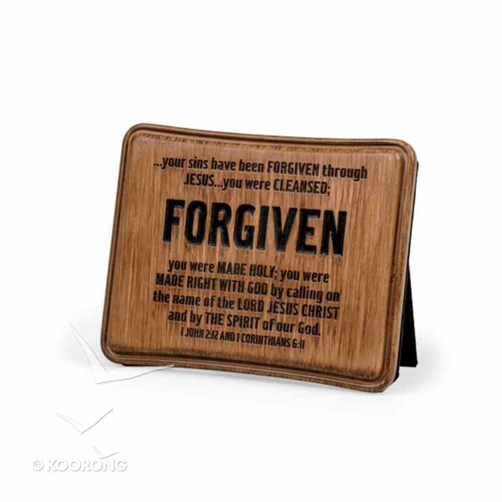 Wood Look Cast Stone Plaque: Forgiven Plaque
