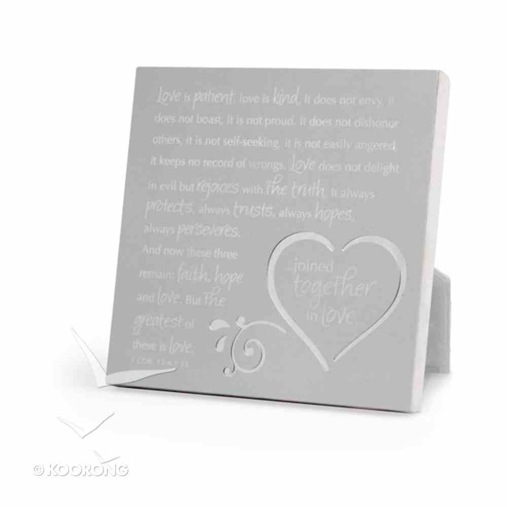 Silver Metal Plaque: Joined Together in Love Plaque