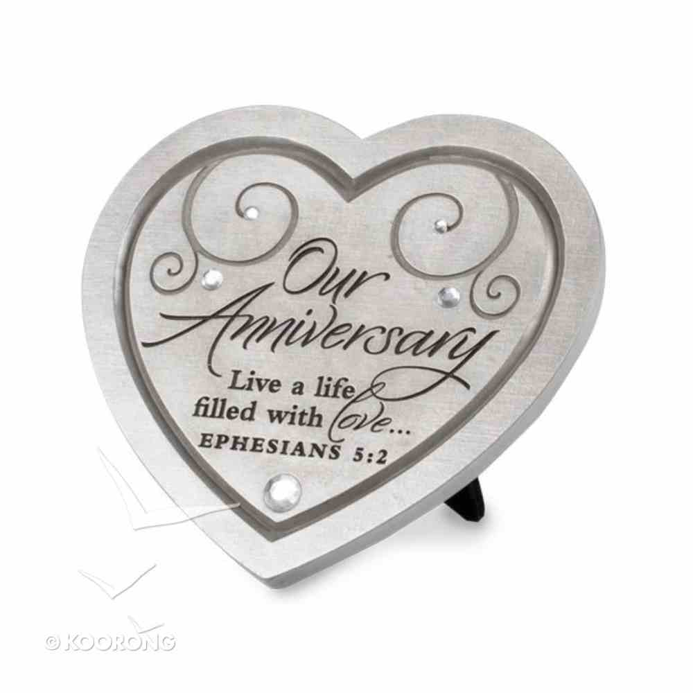 Plaque With Heart Cast Stone: Live a Life of Love Homeware