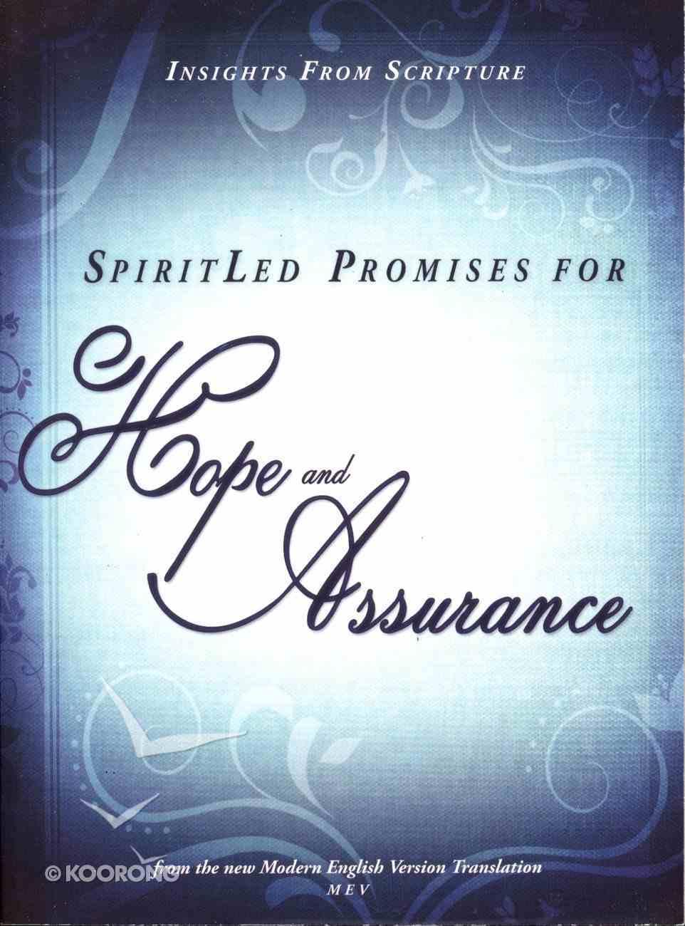 Spiritled Promises For Hope and Assurance Paperback