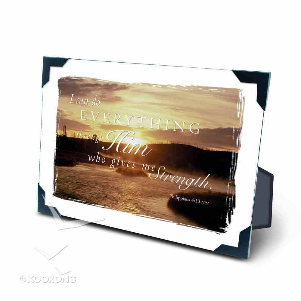 Framed: Early Dawn (Phil 4:13) Plaque