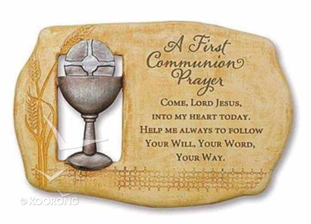 First Communion Prayer Plaque Plaque