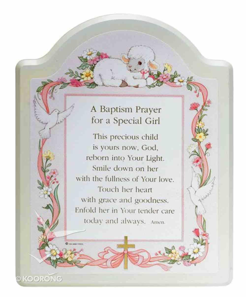 Baptism Plaque For a Special Girl Plaque
