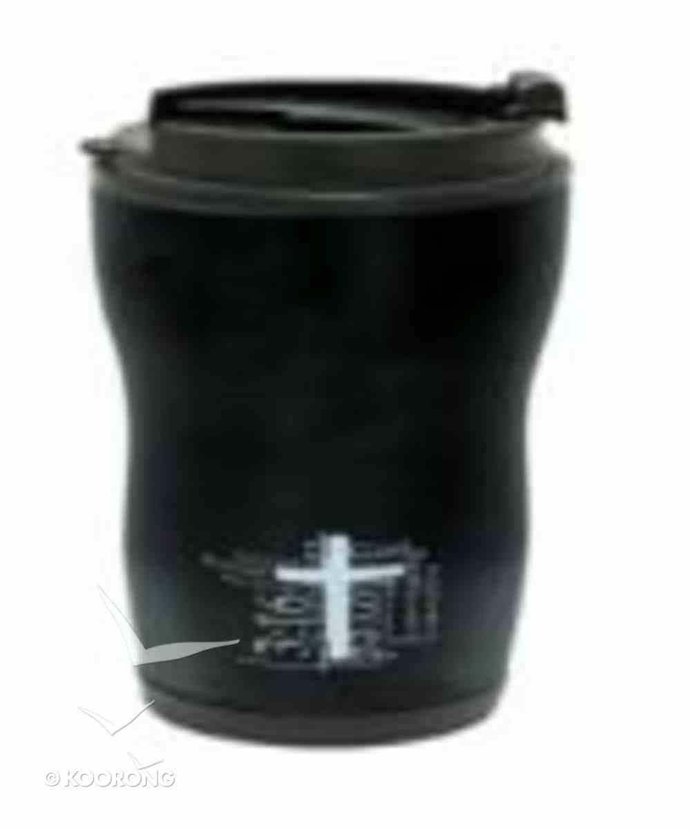Mug 480ml Stainless Steel: Black John 3:16 Homeware
