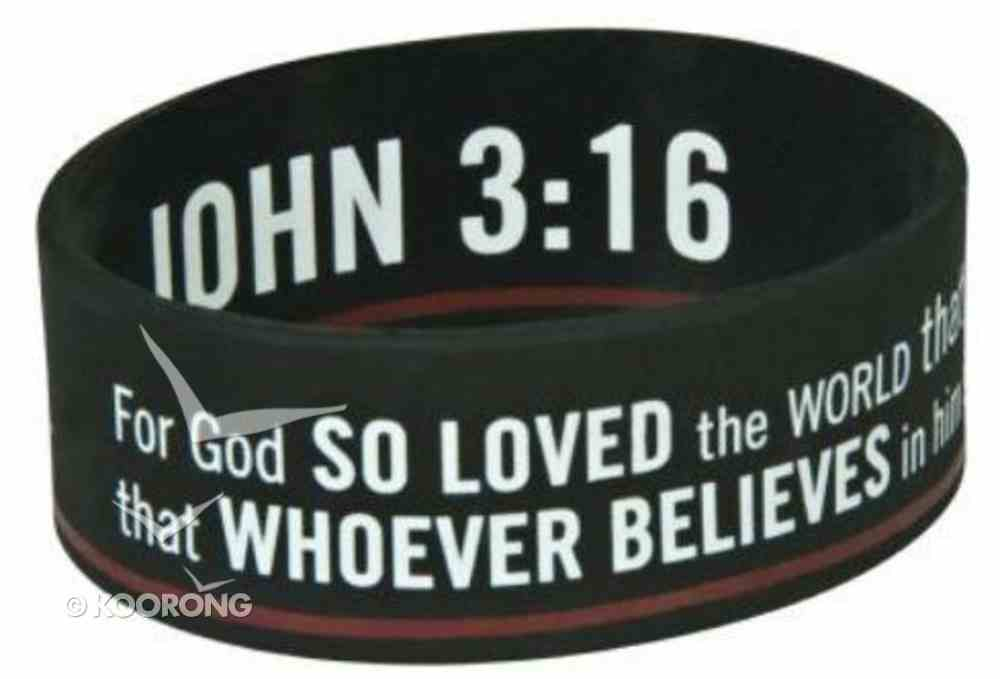 Silicon Wristband: For God So Loved the World, John 3:16 Jewellery