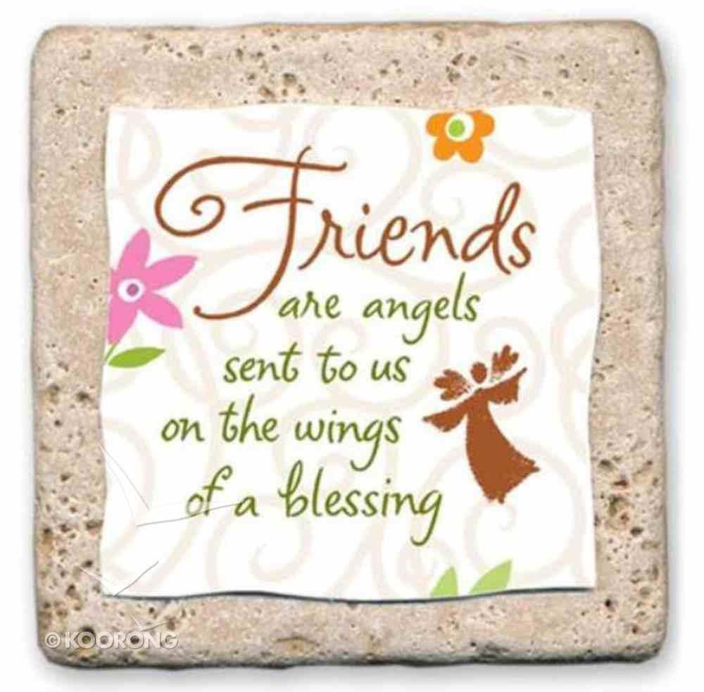 Sentiment Tiles: Friends/Angels Plaque
