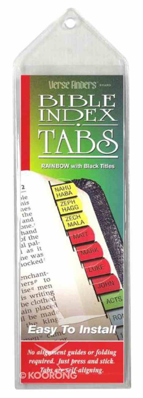 Bible Tabs Verse Finders Rainbow (Horizontal) Stationery