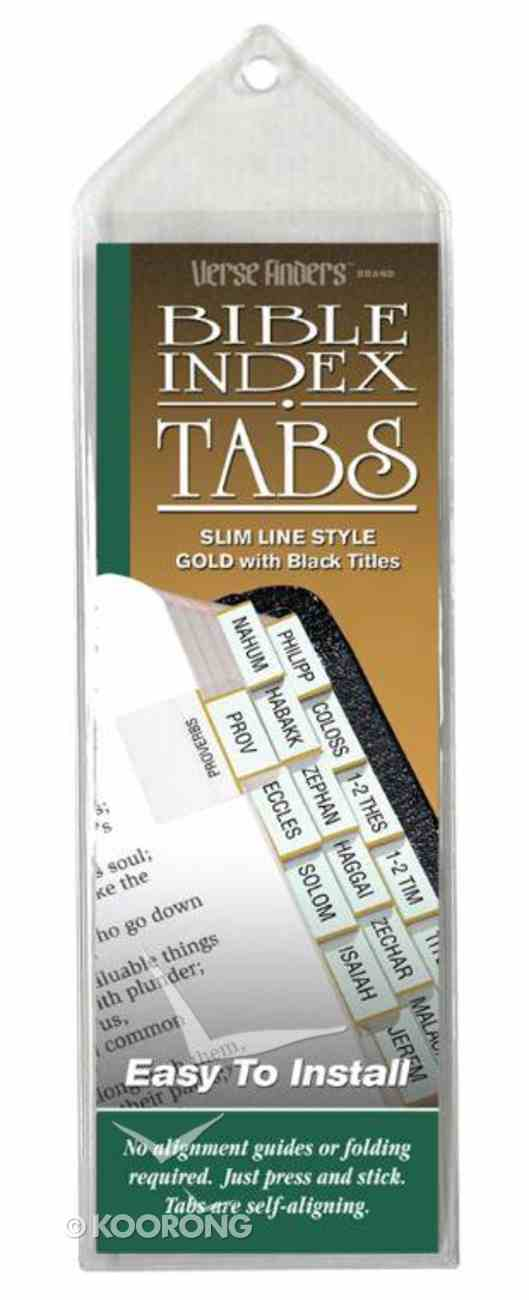Bible Tabs Verse Finders Gold (Slim Line) Stationery