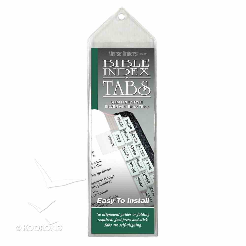 Bible Tabs Verse Finders Silver (Slim Line) Stationery