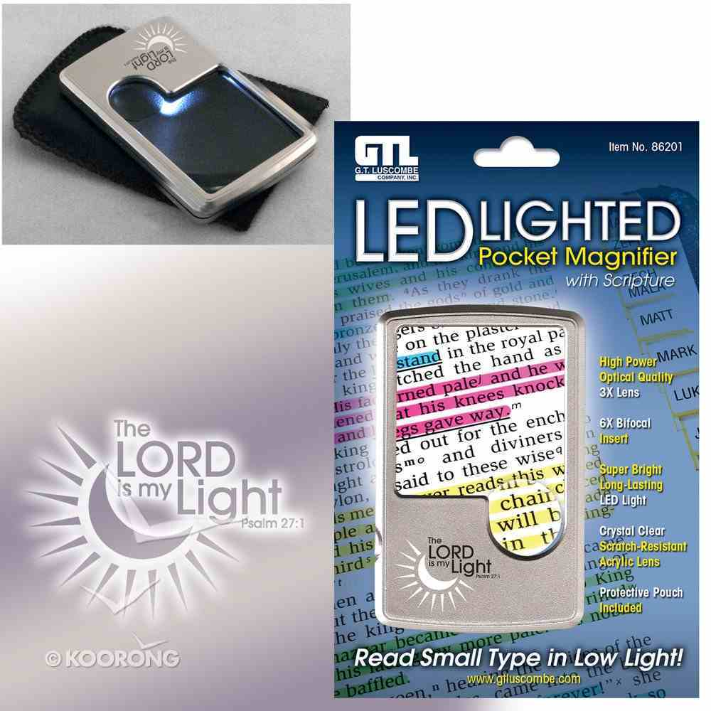 Led Lighted Pocket Magnifier: The Lord is My Light Psalm 27:1 With Pouch Stationery