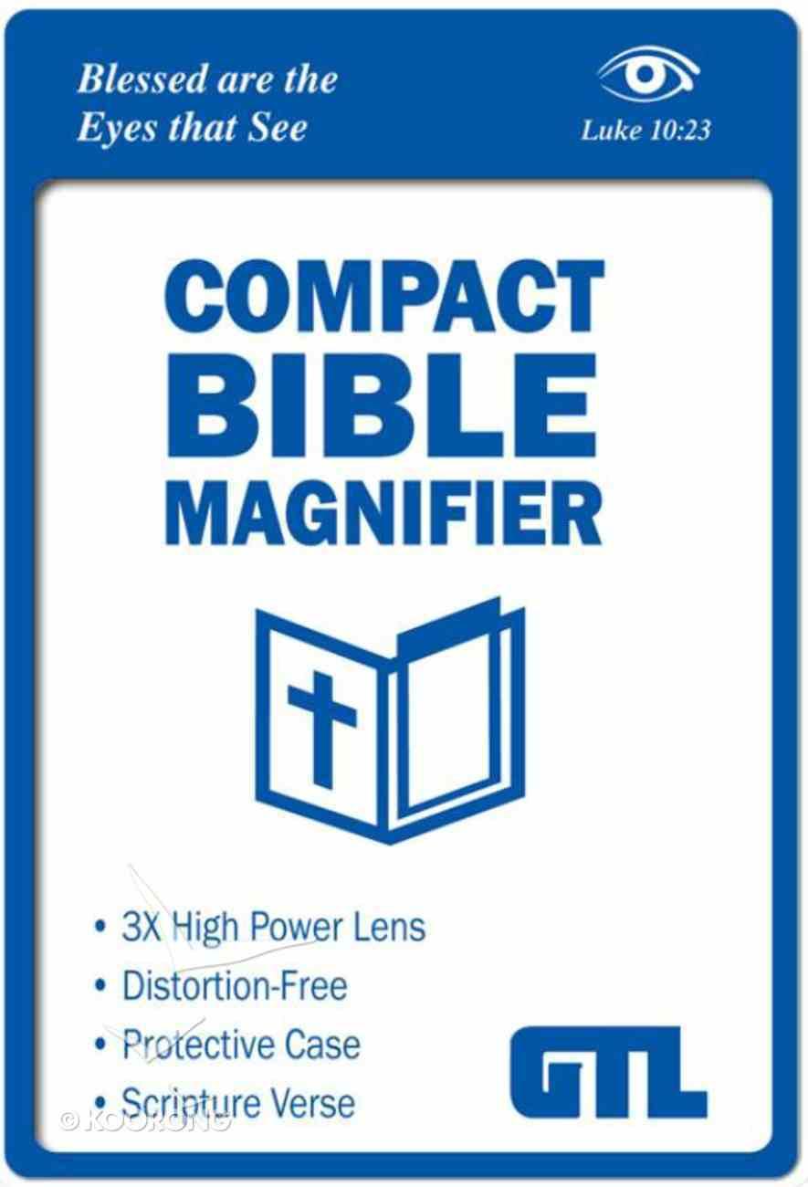 Compact Bible Magnifier: Luke 10:23 Scripture Imprint, Vinyl Sleeve Stationery