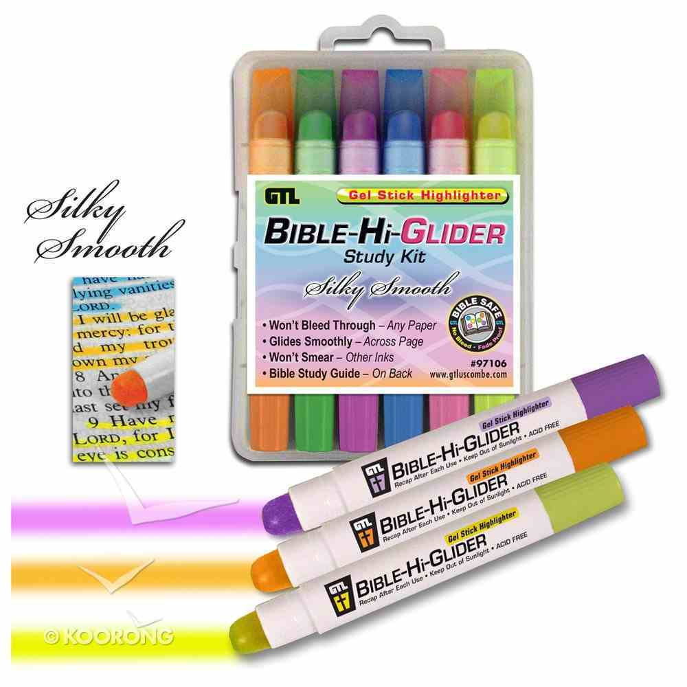 Bible Hi Glider Gel Stick Study Kit: 6 Colours, Will Not Bleed Through Stationery