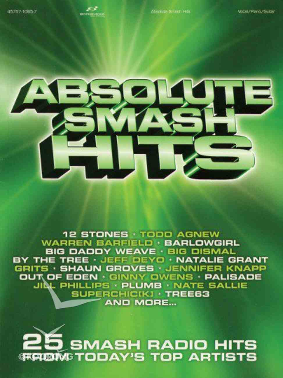 Absolute Smash Hits (Music Book) Paperback