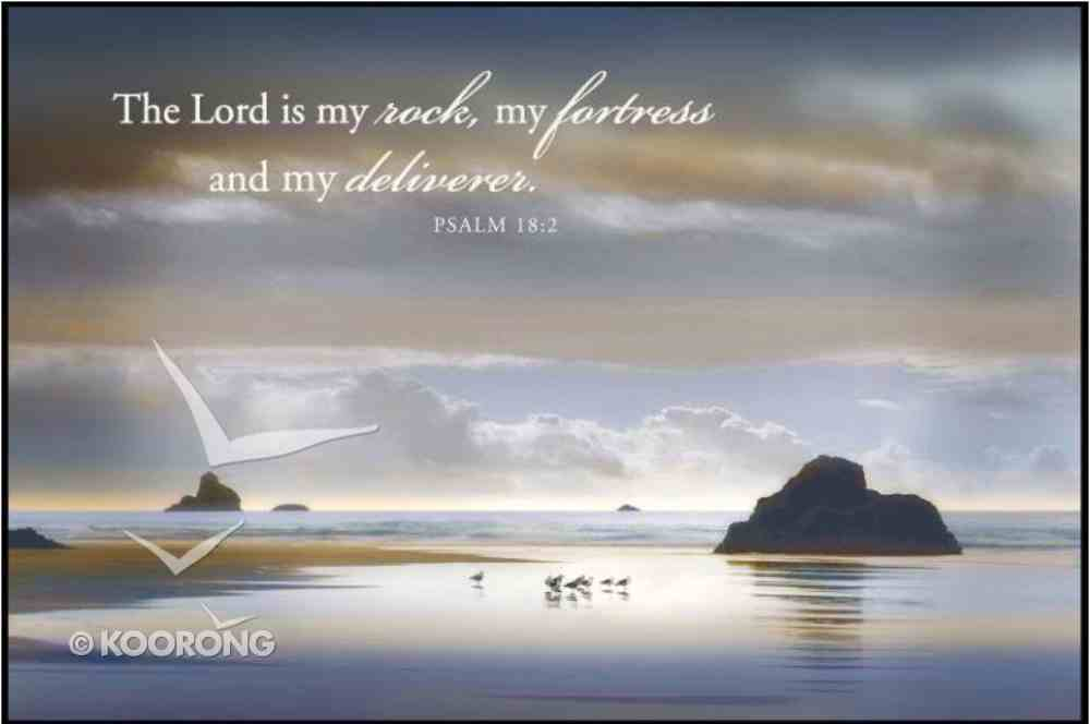 Mounted Print: One of Us Must Know; the Lord is My Rock Psalm 18:2, on Mdf Board Plaque