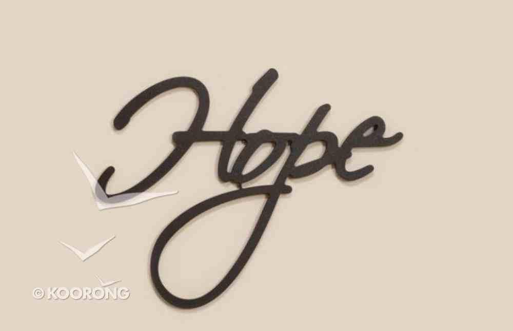 Word Plaque: Hope, Black, Mdf Plaque