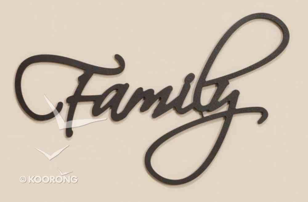 Word Plaque: Family, Black, Mdf Plaque