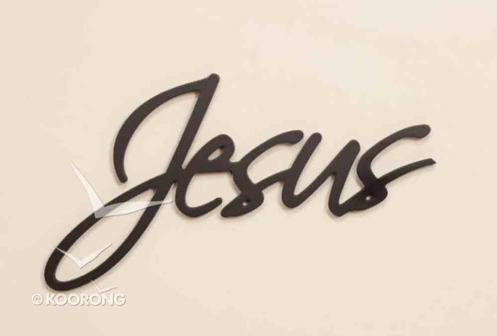 Word Plaque: Jesus, Black, Mdf Plaque