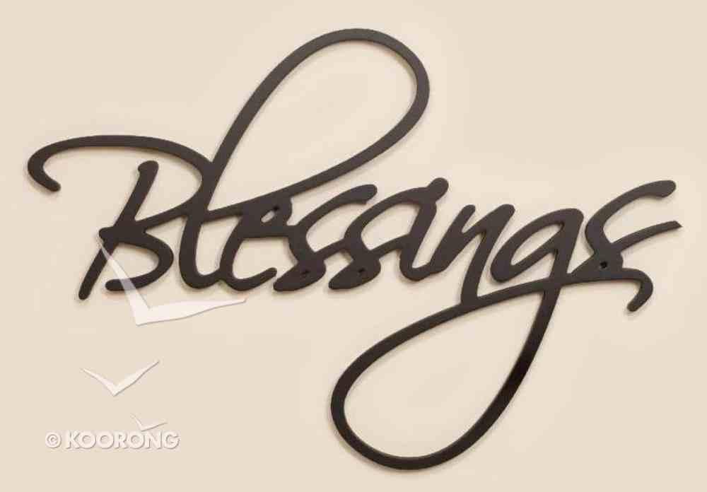 Word Plaque: Blessings, Black, Mdf Plaque