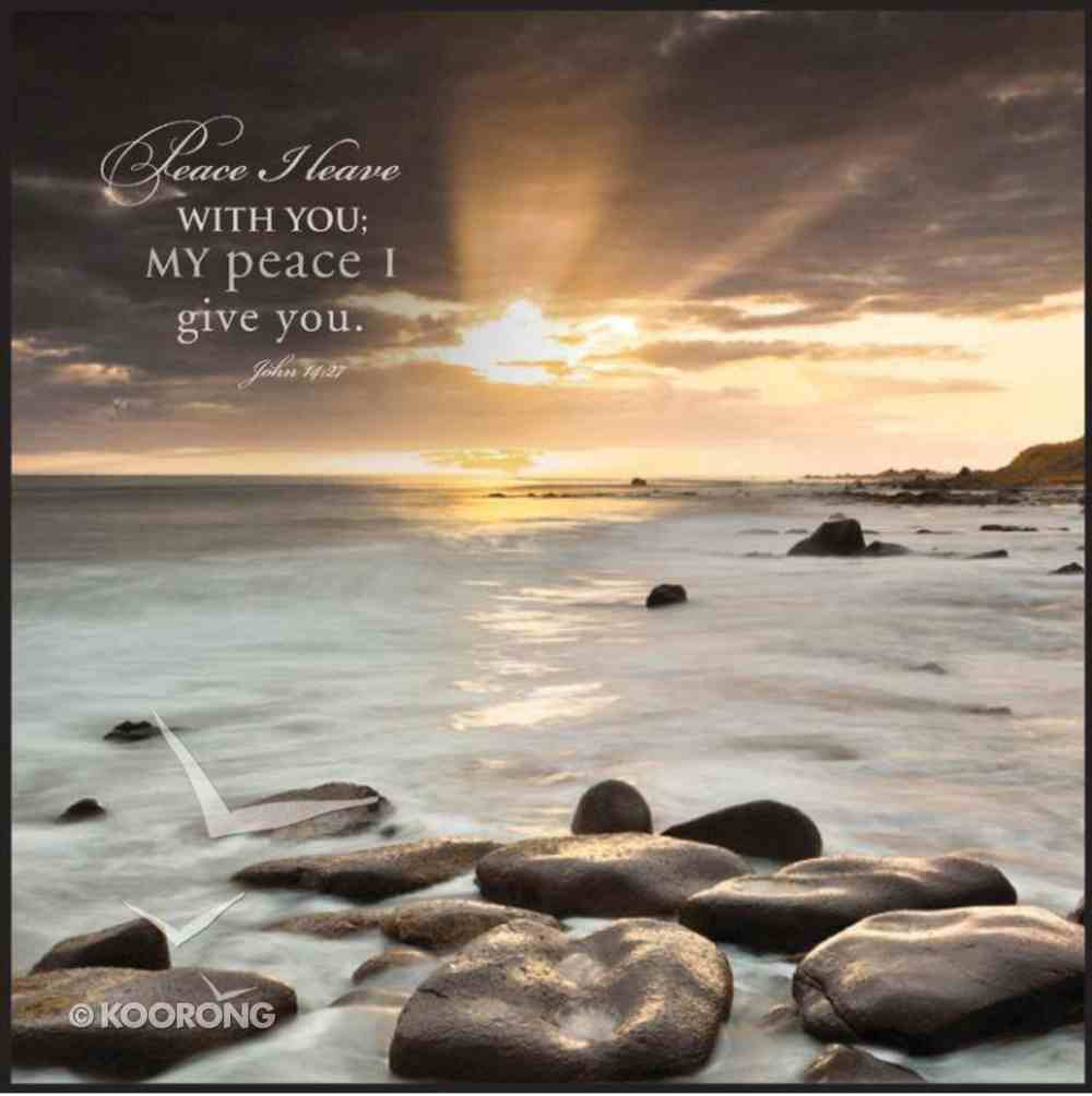 Mounted Print: Nordic Sunset, Peace I Leave With You John 14:27, on Mdf Board Plaque