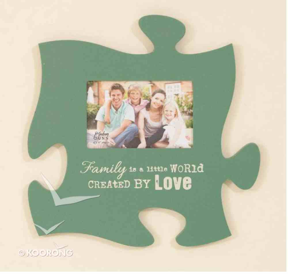 Puzzle Pieces Wall Art: Family (Holds 1 4x6 Photo) Plaque
