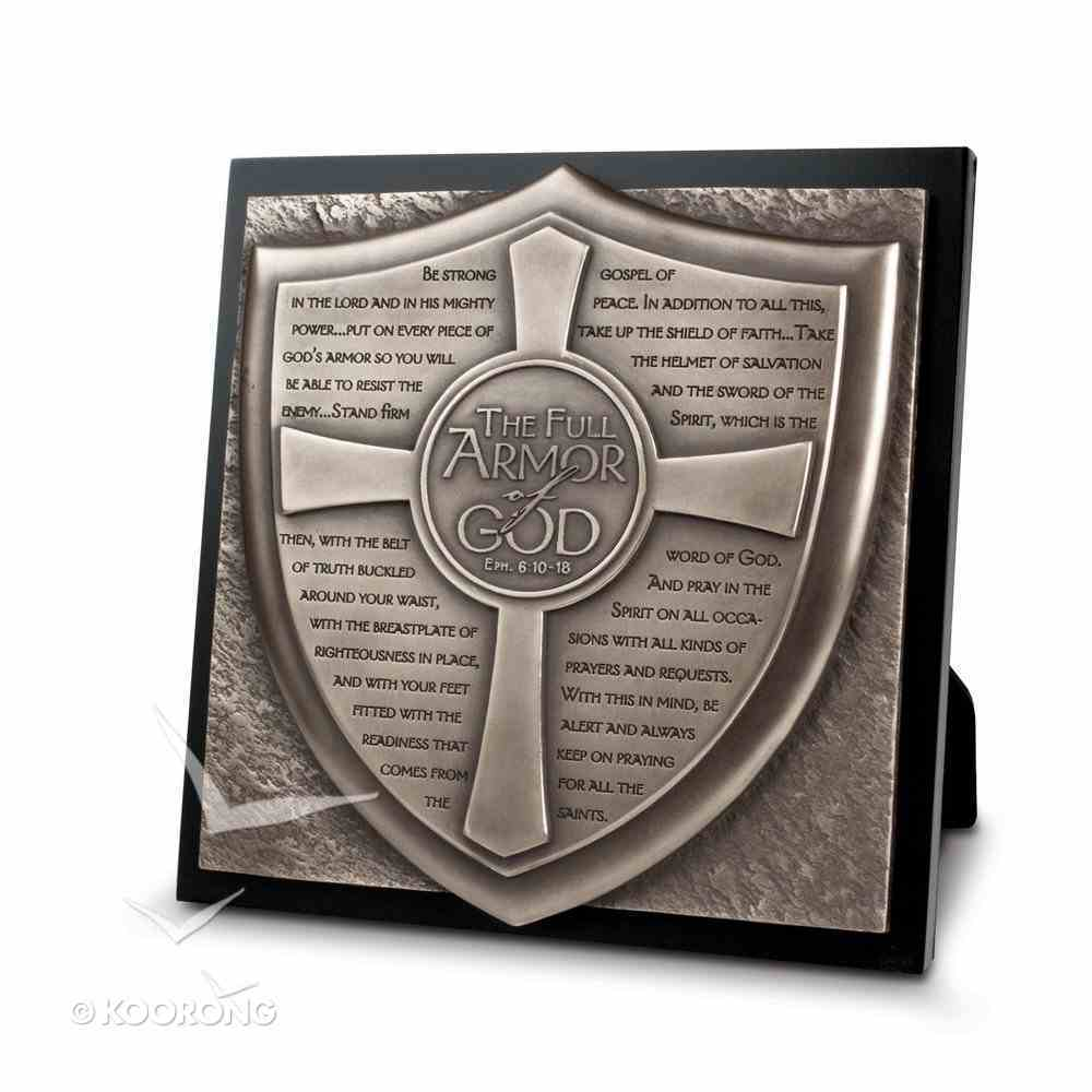 Full Armor of God Moments of Faith Sculpture Plaque Plaque