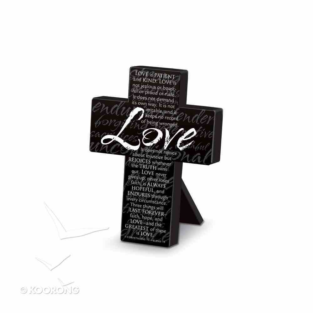 Mini Metal Message Cross: Love Various Scriptures, Black Homeware